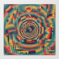 glitch Canvas Prints featuring glitch by Blaz Rojs
