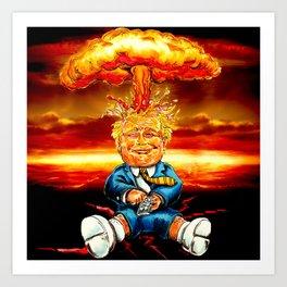 Trump bomb Art Print