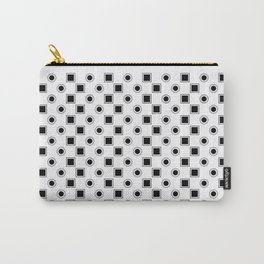 Circles and Squares Target - White Carry-All Pouch