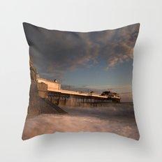 Cromer Pier at dawn Throw Pillow