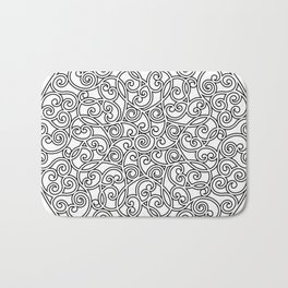 Mandala black 4 Bath Mat