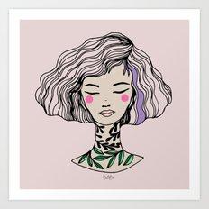 Miss Claudia Art Print