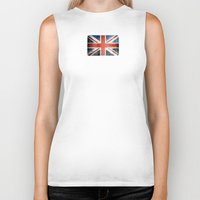 union jack Biker Tanks featuring Great Britain, Union Jack by Arken25