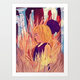 Jorinde and Joringel Art Print