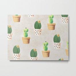 Concrete - Cactus Wall Metal Print