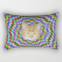 Dizzy Cat Abstract Rectangular Pillow