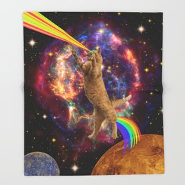 CAT SPACE  Throw Blanket