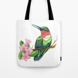 Summer Hummingbird Tote Bag