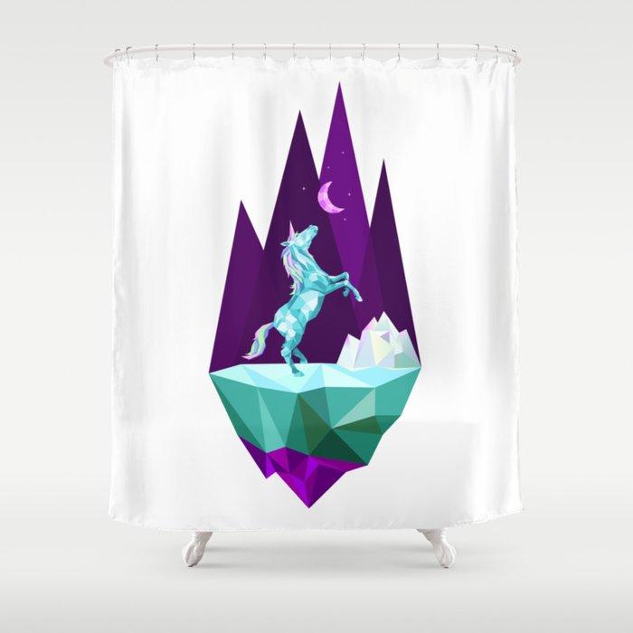 Unicorn Stand Alone Shower Curtain