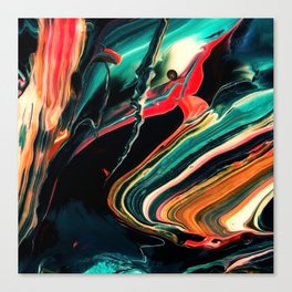 ABSTRACT COLORFUL PAINTING II-A Canvas Print