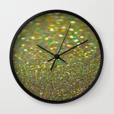Partytime Gold Wall Clock