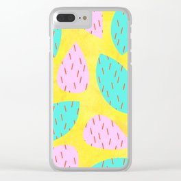 Cactus Spikes Clear iPhone Case