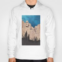 rushmore Hoodies featuring Night Mountains No. 15 by Bakmann Art