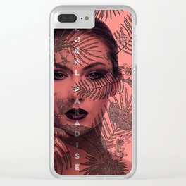 FLORAL PARADISE Clear iPhone Case