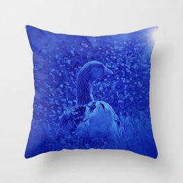 Oie dans les jardins de carrouges by GEN Z Throw Pillow