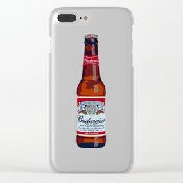 Budweiser Bottle Clear iPhone Case