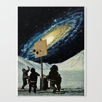 space jam Canvas Prints featuring Space Jam  by Daniel Madeline