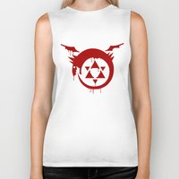fullmetal Biker Tanks featuring Ouroboros by KanaHyde