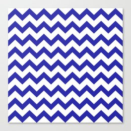 Chevron (Navy & White Pattern) Canvas Print