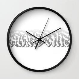 Black and White Marseille Wall Clock