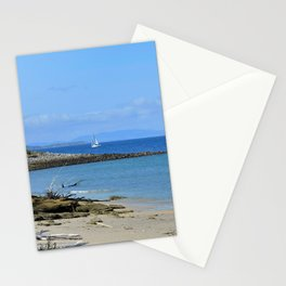 Lonely sailboat. Stationery Cards