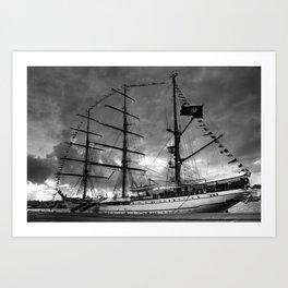 Portuguese tall ship Art Print