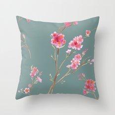 2016 Calendar Print - Cherry Blossoms Throw Pillow