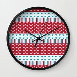 Charmed Hearts Wall Clock