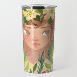 Herbs and Wildflower Nymph Travel Mug