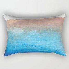 beach from the sky Rectangular Pillow