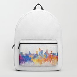 Gdynia skyline in watercolor background Backpack