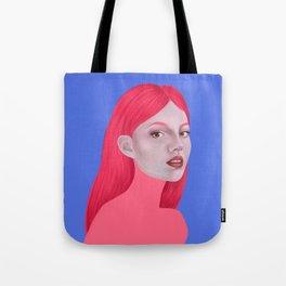Woman in pink Tote Bag