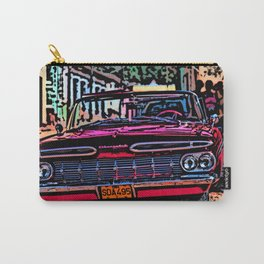 Old american car in Trinidad, Kuba Carry-All Pouch