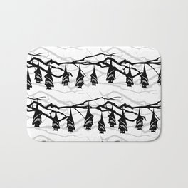 Bats hanging on tree : TM17046 Bath Mat