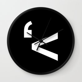 emotikwack black Wall Clock
