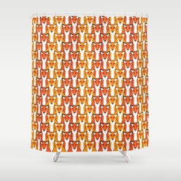Autumn Foxes Shower Curtain