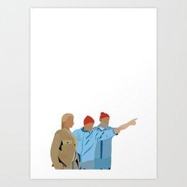 The Life Aquatic with Steve Zissou: Minimalist Poster Art Print