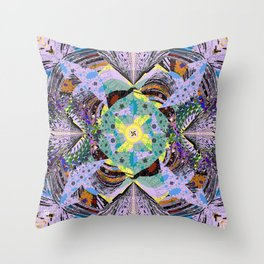 Stepping Up To the Brink Throw Pillow
