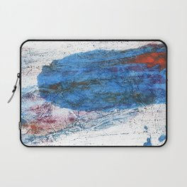 Steel blue colored wash drawing texture Laptop Sleeve