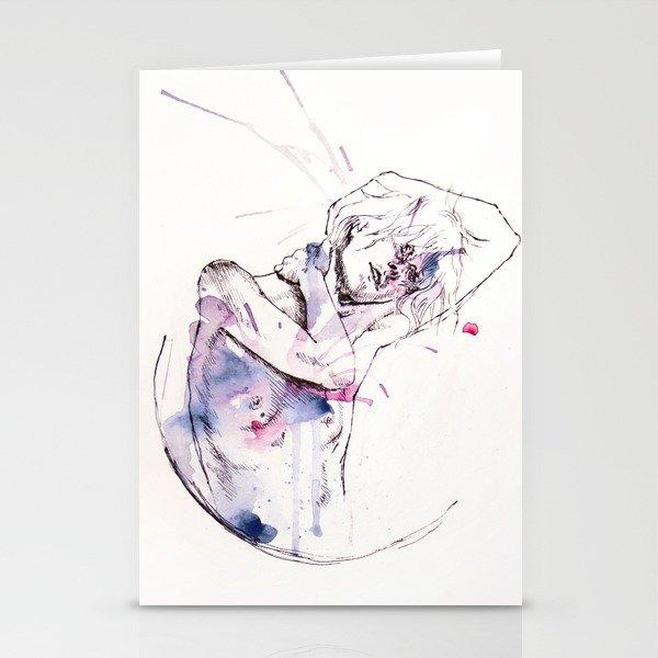 circles - con occhi porpora Stationery Cards
