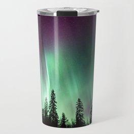 Colorful Northern Lights, Aurora Borealis Travel Mug