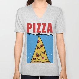 Pizza Jaws Movie Parody Unisex V-Neck