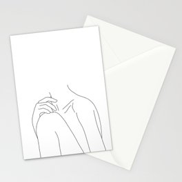 Woman's body line drawing illustration - Cathy Stationery Cards