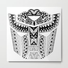 Autobot Mandala Metal Print