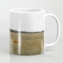 Highland Cows eating grass | Scottish Highlanders, cattle, cows in the Netherlands | Wild animals | Fine art travel and nature photography Coffee Mug