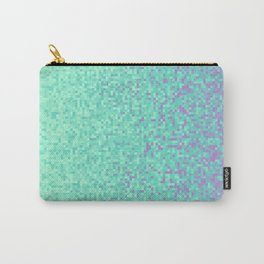 Sky Blue Purple Pixilated Gradient Carry-All Pouch