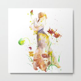 Woman's Abstract - Fall Metal Print
