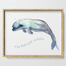 The Beluga Whale Serving Tray