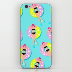 Relaxed women in the sea #society6 iPhone & iPod Skin