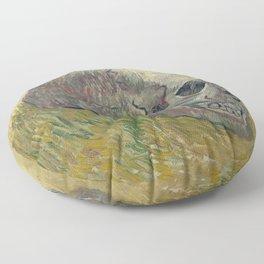 Vincent Van Gogh - Skull 1888 Floor Pillow